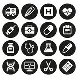 Medical icons set 1 Royalty Free Stock Images