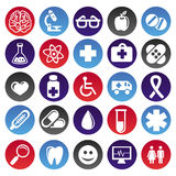 Medical icons and signs. Circle buttons Stock Images