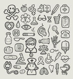 Medical Icons Sketch Royalty Free Stock Photography