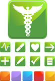 Medical Icons - Square. Set of medical icons - square style stock illustration