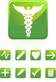 Medical Icons - Square. Set of 9 3D medical icons - square style Royalty Free Stock Photos