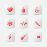 Medical icons symbol. Vector illustration Royalty Free Stock Photography
