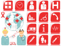 Medical icons and symbols Stock Photo