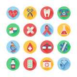 Medical icons in trendy flat style Stock Images
