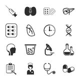 Medical 16 icons universal set for web and mobile. Flat vector illustration