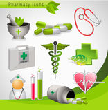 Medical icons - vector Stock Photography