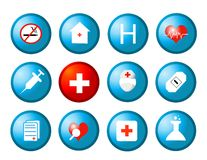 Medical icons vector Royalty Free Stock Photography