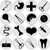 Medical icons Royalty Free Stock Photo