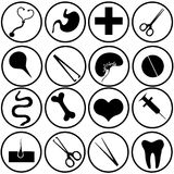 Medical icons. Stock Photo