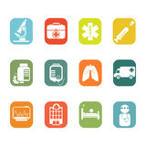 Medical icons. A vector illustration of medical icon sets Royalty Free Stock Image