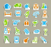 Medical icons. Vector illustration. The medical symbols which have been cut out from a paper Royalty Free Stock Photos