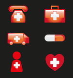 Medical Icons Vector Illustration Royalty Free Stock Images