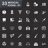 33 medical icons - 01 Royalty Free Stock Photos
