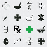 Medical icons vector set. Stock Images