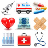 Medical icons vector set. Medical icons detailed photo realistic vector set Stock Photography
