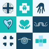 Medical icons vector set Royalty Free Stock Photos