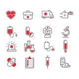 Medical icons vector set. Stock Photos