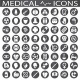 Medical Icons. On a white background in circles Stock Photos
