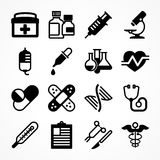 Medical icons on white Royalty Free Stock Image