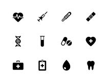 Medical icons on white background. Vector illustration Stock Photography