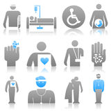 Medical icons8 Stock Photography
