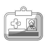 Medical id card icon image Royalty Free Stock Image