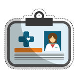 Medical id card icon image Royalty Free Stock Images