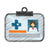 Medical id card icon image Royalty Free Stock Photography