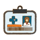 Medical id card icon image Stock Photography