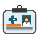 Medical id icon Royalty Free Stock Images