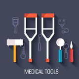 Medical illustrations concepts background. Vector Royalty Free Stock Photos