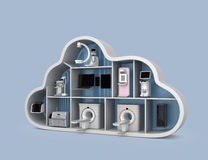 Medical imaging system and PACS server, 3D printer in cloud shape container Stock Photo