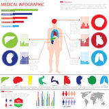 Medical info graphic Royalty Free Stock Images