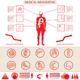 Medical info graphic. Royalty Free Stock Images