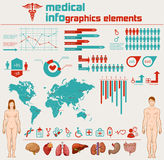 Medical info graphics Royalty Free Stock Photo