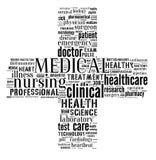 Medical info-text graphics. And arrangement concept (word cloud Stock Photos