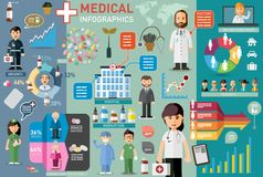 Medical infographic elements Stock Images