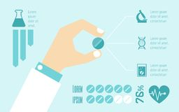 Medical Infographic Elements. Stock Image