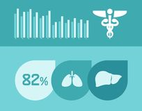 Medical Infographic Elements. Royalty Free Stock Photos