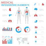 Medical infographic elements stock photography