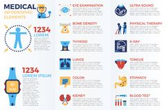 Medical infographic elements Stock Image