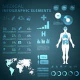 Medical infographic elements Royalty Free Stock Images