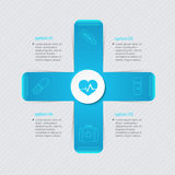 Medical infographic healthcare concept with four options, parts, Stock Photos