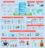 Medical Infographic Set Stock Photography