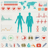 Medical Infographic set Royalty Free Stock Photos