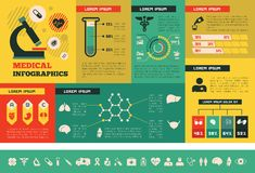 Medical Infographic Template. Stock Photography