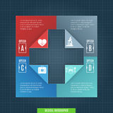 Medical Infographic Template Royalty Free Stock Image