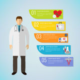 Medical Infographic template. Vector. Medical Infographic template. Healthcare infographic. Vector illustration Royalty Free Stock Image