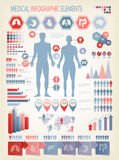 Medical infographics elements. Stock Photo