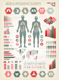 Medical infographics elements. Stock Photos